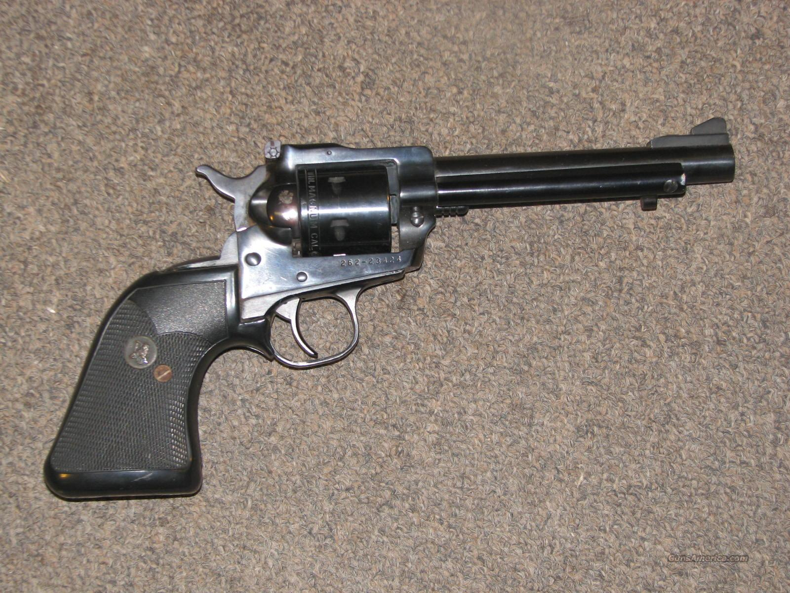 RUGER SINGLE SIX .22 MAG w/ PACHMAYR GRIPS  Guns > Pistols > Ruger Single Action Revolvers > Single Six Type
