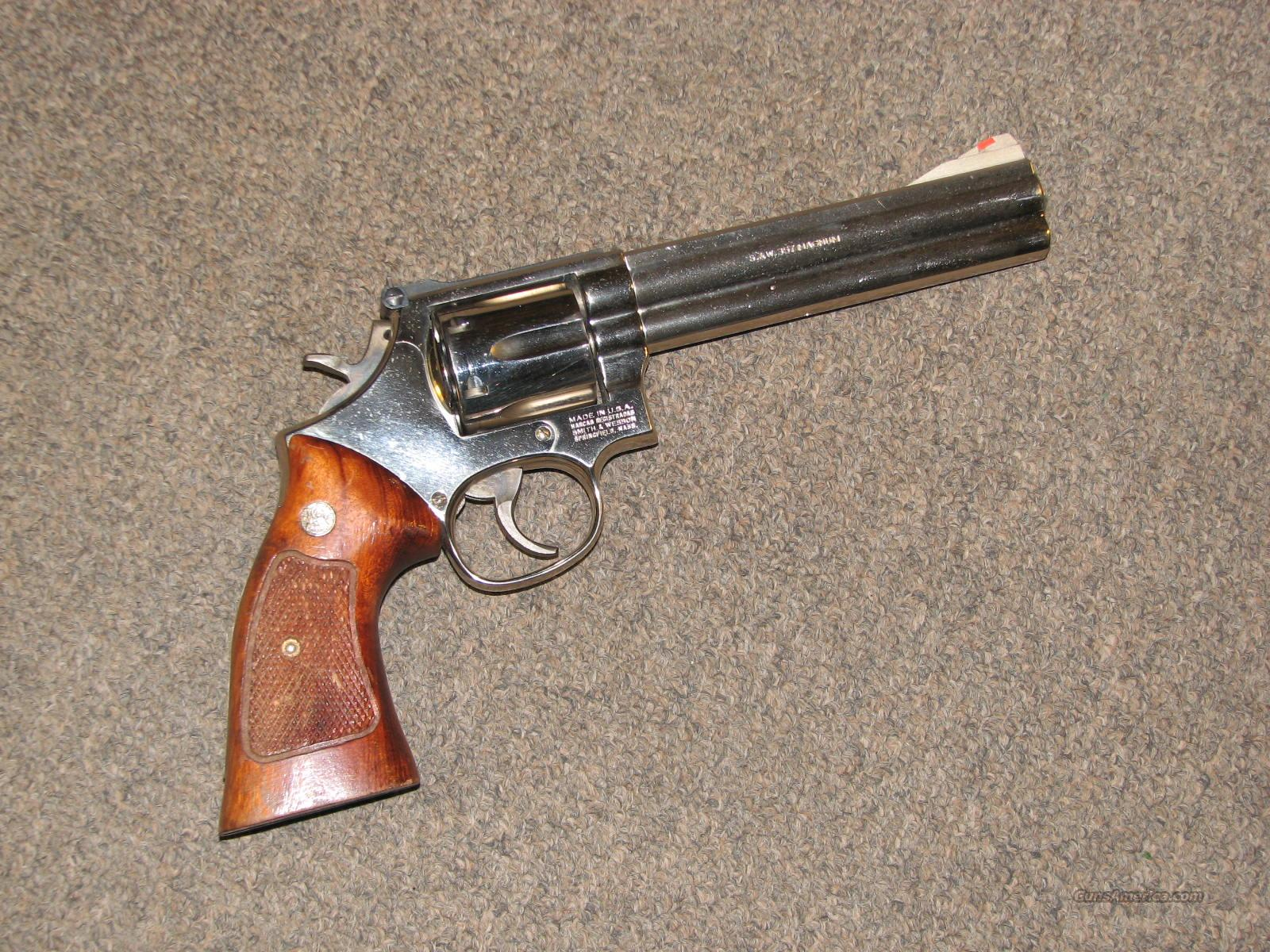 "SMITH & WESSON 586 NICKEL .357 MAG - 6""  Guns > Pistols > Smith & Wesson Revolvers > Full Frame Revolver"