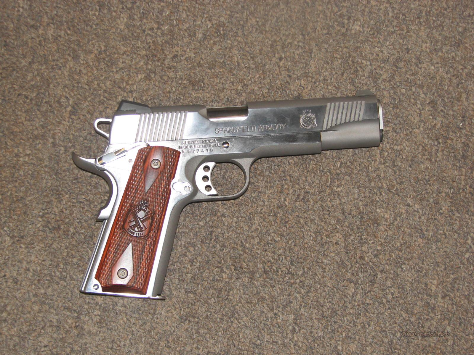 SPRINGFIELD 1911-A1 LOADED STAINLESS .45 ACP - NEW  Guns > Pistols > Springfield Armory Pistols > 1911 Type