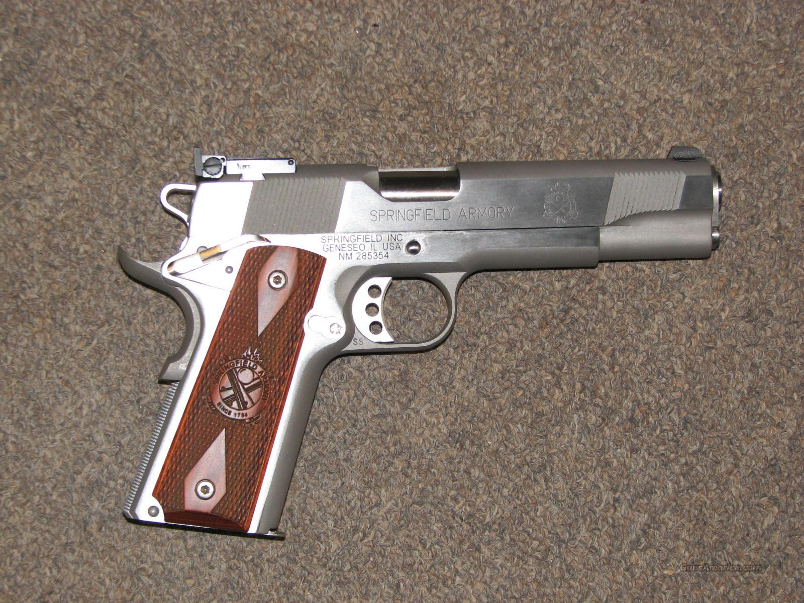 SPRINGFIELD 1911 A1 STAINLESS TARGET .45 ACP - NEW!  Guns > Pistols > Springfield Armory Pistols > 1911 Type