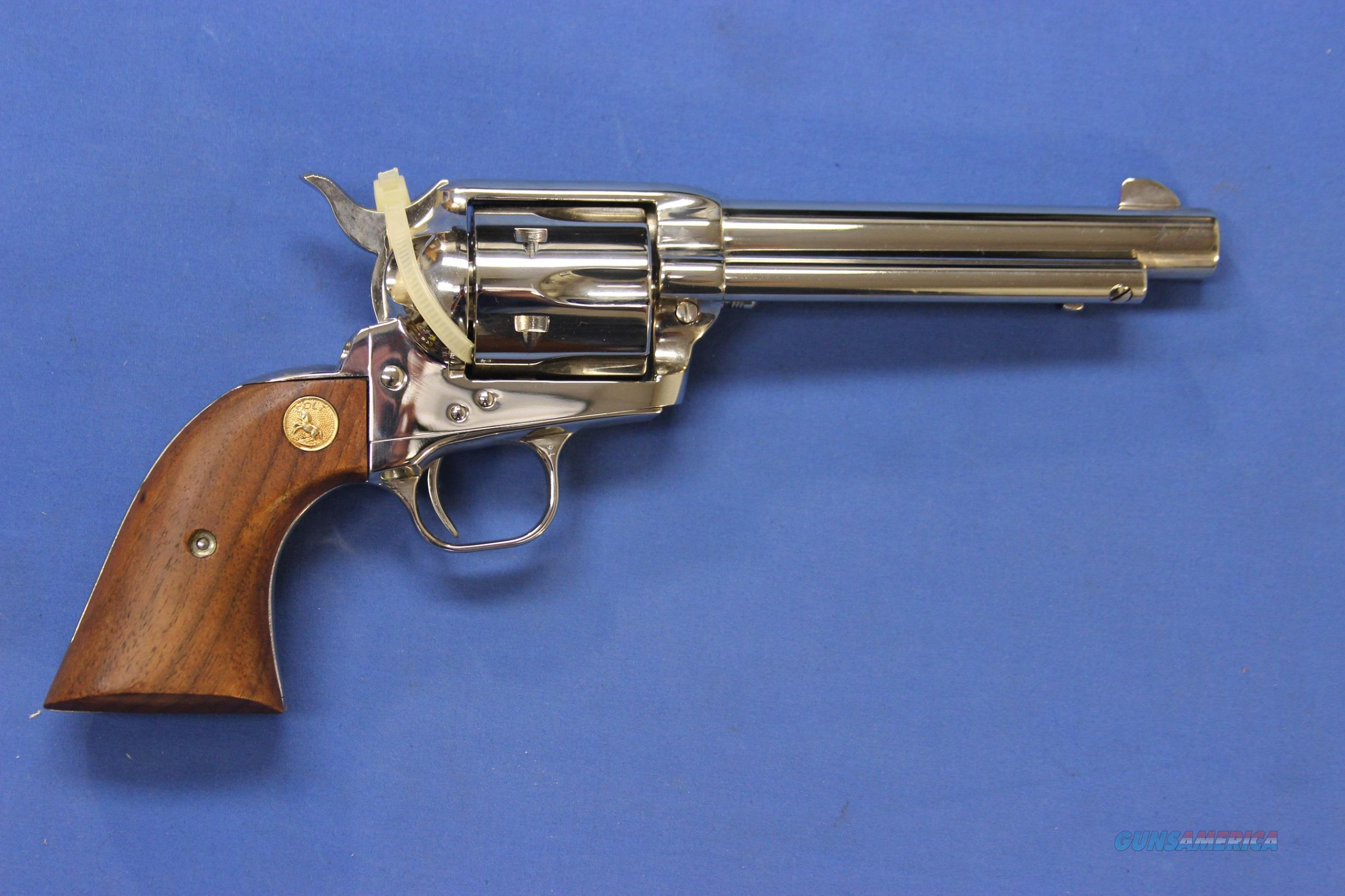 COLT SINGLE ACTION ARMY 3rd GENERATION .357 MAG NICKEL w/BOX  Guns > Pistols > Colt Single Action Revolvers - 3rd Gen.