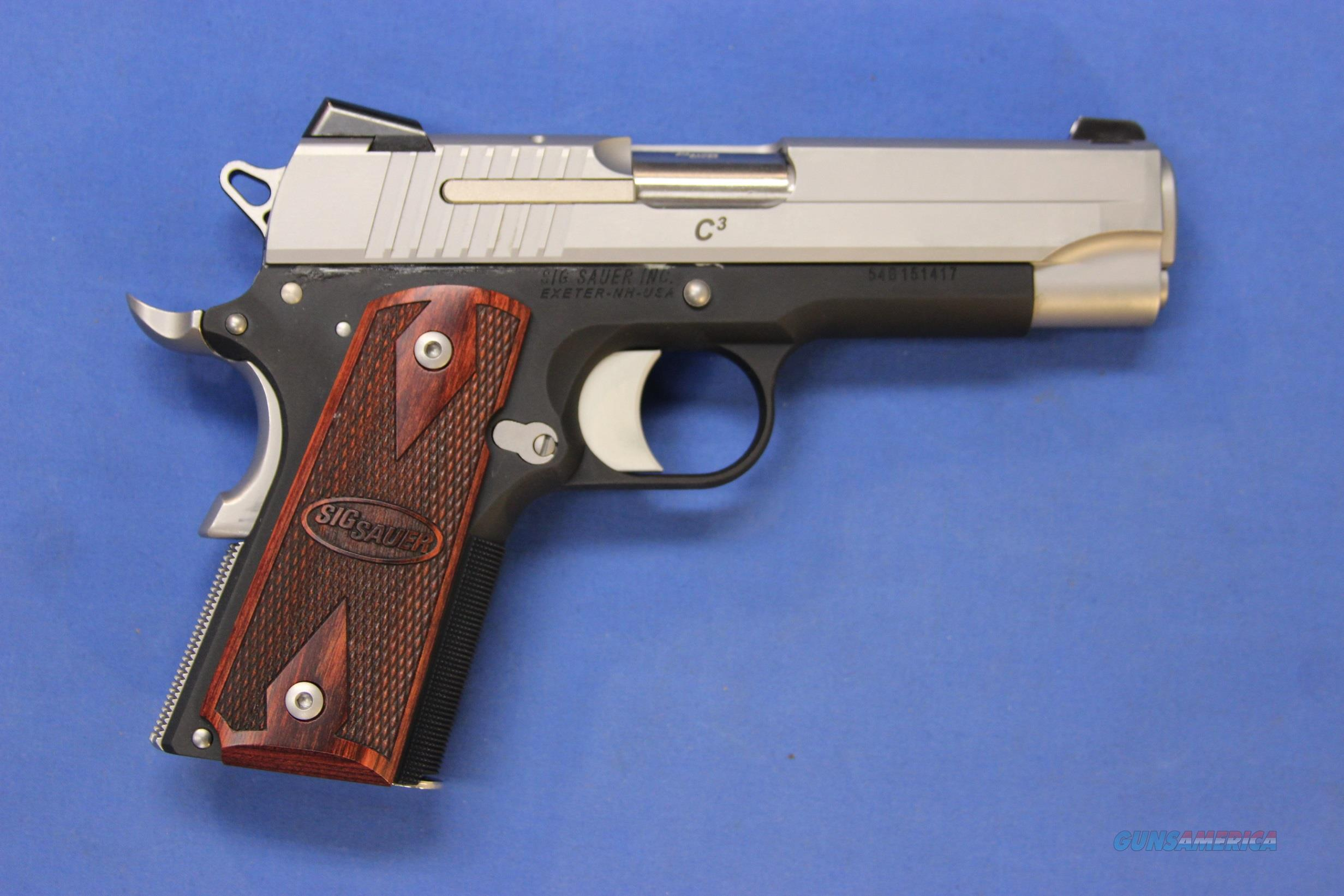 SIG SAUER 1911 C3 TWO-TONE .45 ACP - NEW IN BOX!  Guns > Pistols > Sig - Sauer/Sigarms Pistols > 1911