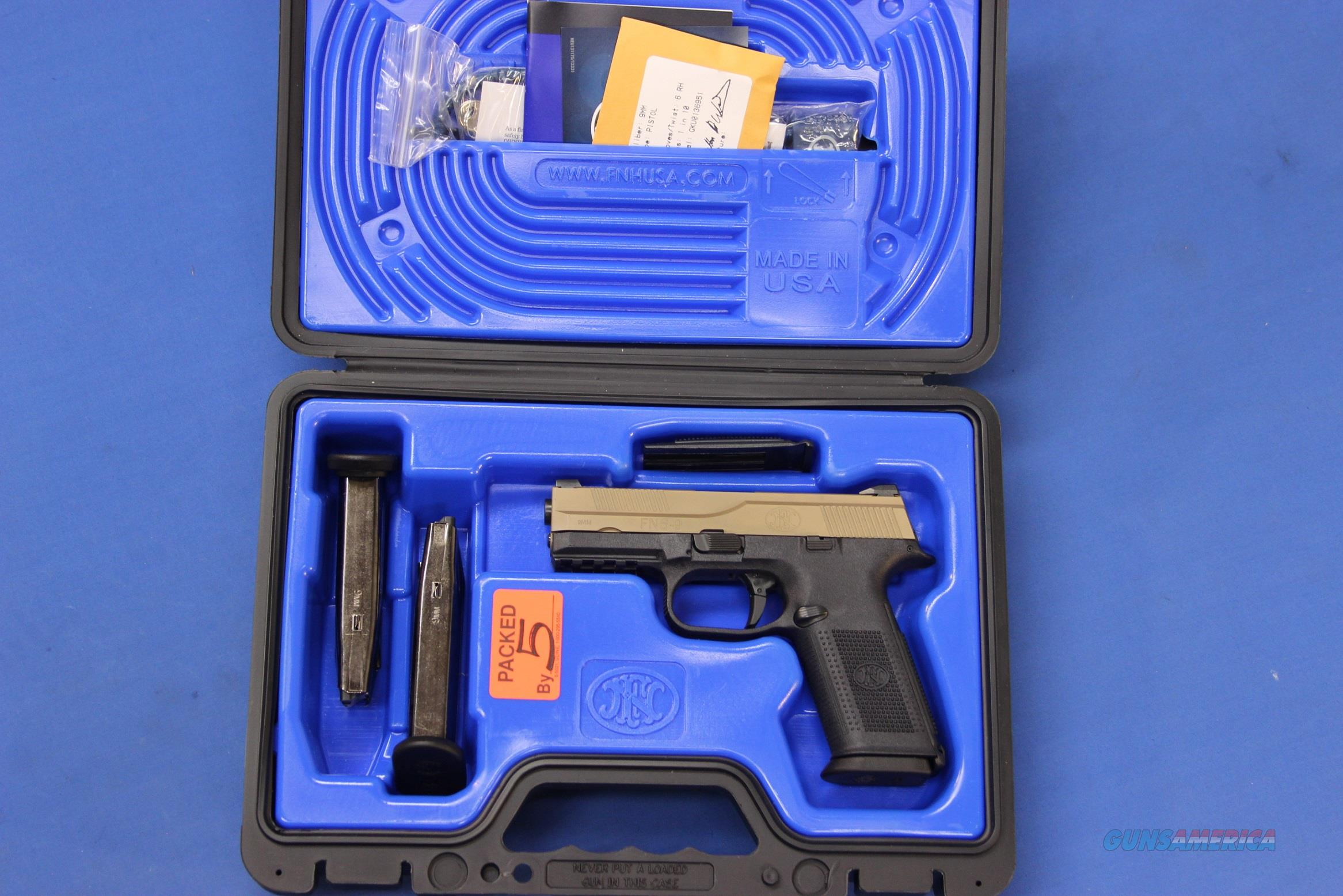 FNH FNS-9 FDE 9mm w/BOX, 3 MAGS, & ACCESSORIES  Guns > Pistols > FNH - Fabrique Nationale (FN) Pistols > FNS