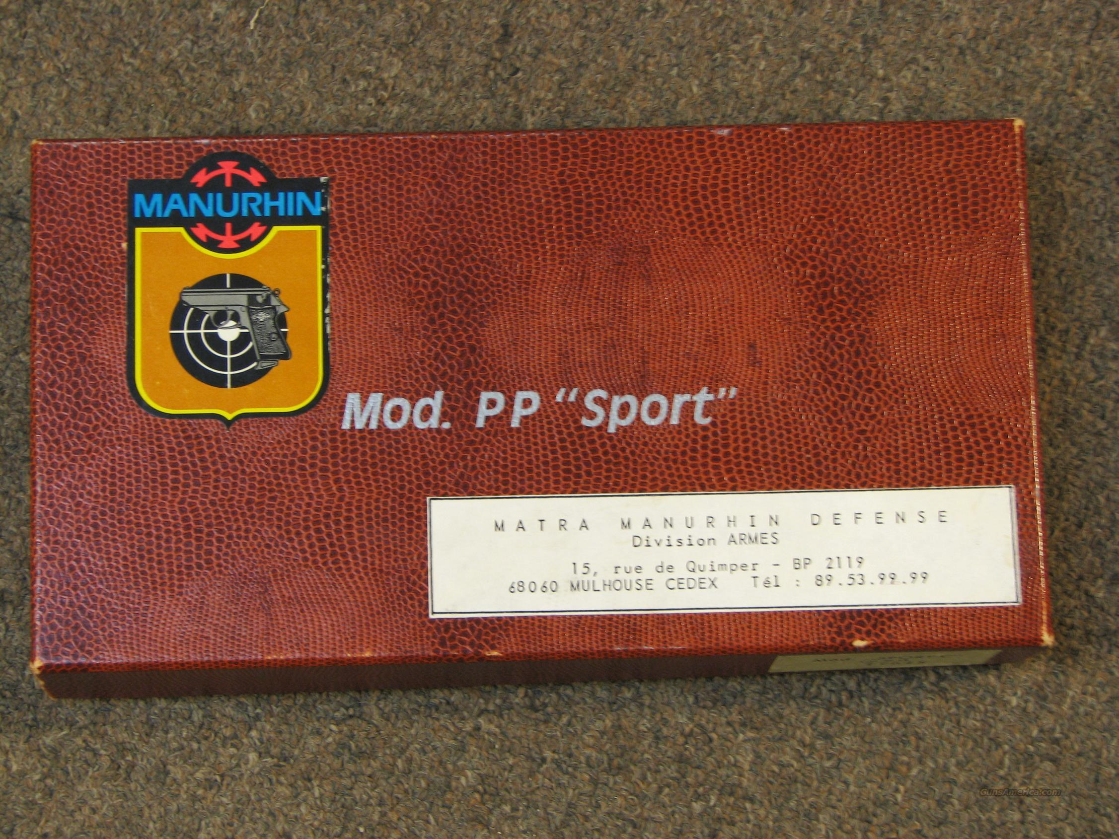 MANURHIN WALTHER PP SPORT 22 LR - LIKE NEW IN BOX!  Guns > Pistols > Walther Pistols > Post WWII > PP Series