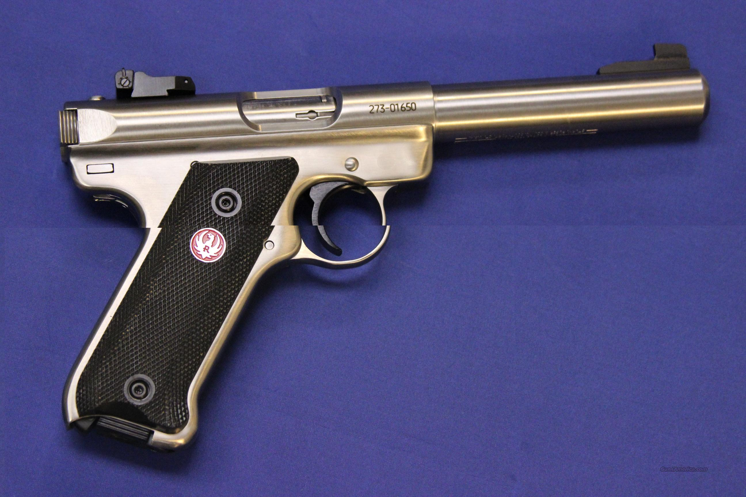 "RUGER MK III STAINLESS TARGET 5.5"" - NEW!  Guns > Pistols > Ruger Semi-Auto Pistols > Mark I & II Family"
