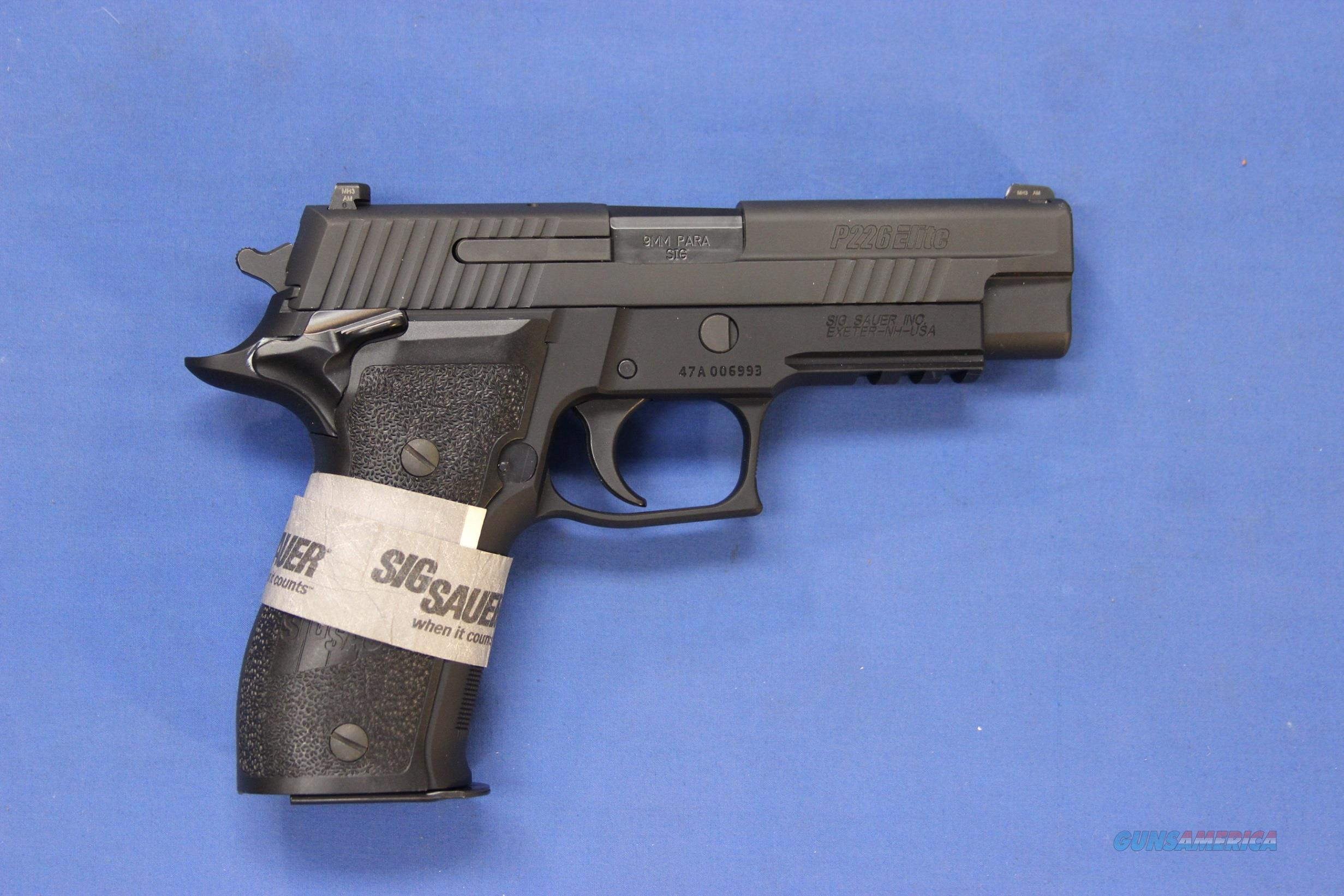 SIG SAUER P226 ELITE SINGLE ACTION SAO 9mm - NEW!  Guns > Pistols > Sig - Sauer/Sigarms Pistols > P226