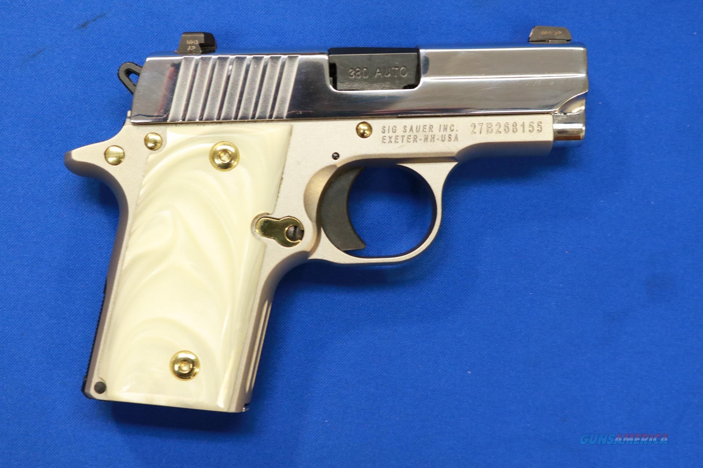 SIG SAUER P238 STAINLESS PEARL w/GOLD .380 ACP   Guns > Pistols > Sig - Sauer/Sigarms Pistols > P238