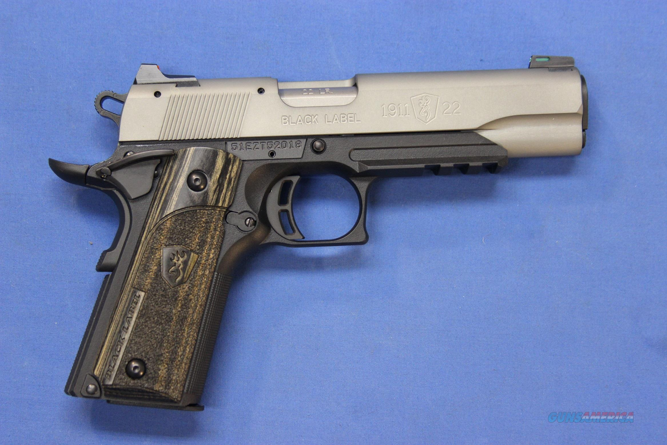 BROWNING 1911-22 BLACK LABEL .22 LR - NEW IN BOX  Guns > Pistols > Browning Pistols > Other Autos