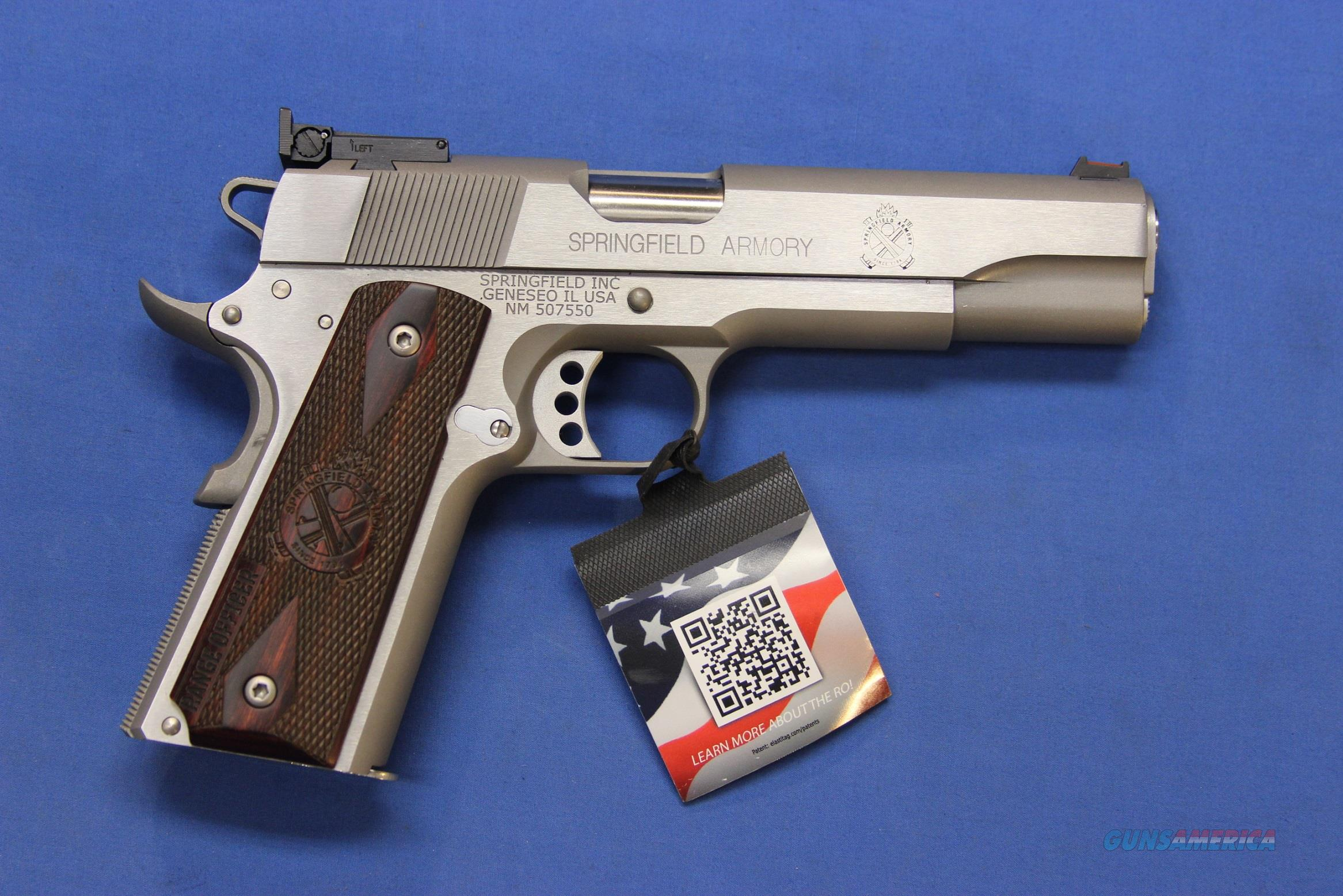 SPRINGFIELD 1911 RANGE OFFICER STAINLESS 9mm - NEW  Guns > Pistols > Springfield Armory Pistols > 1911 Type