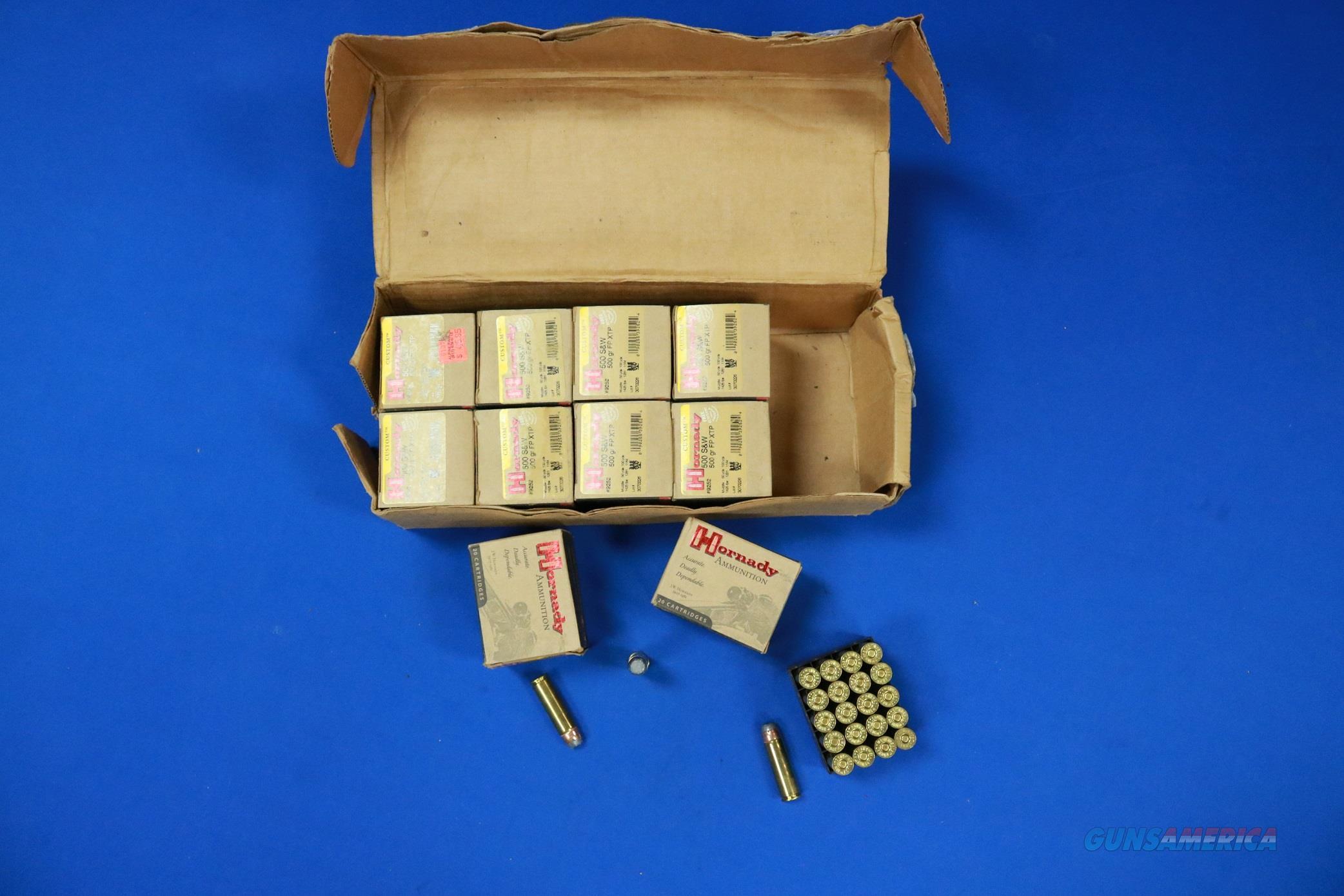 HORNADY .500 S&W .500 gr FP XTP MAG 200 ROUND CASE  Non-Guns > Ammunition