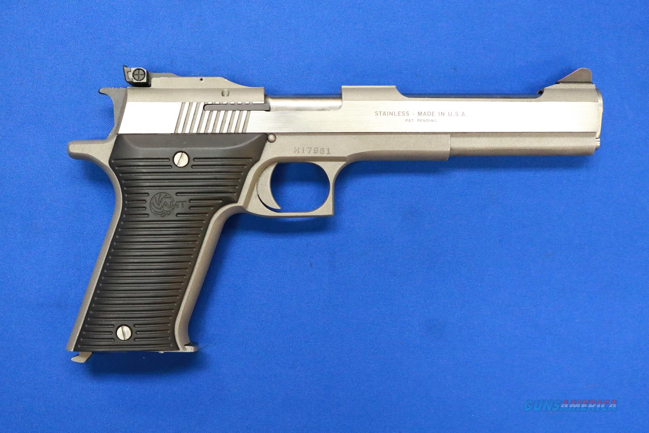 AMT AUTOMAG II STAINLESS .22 MAGNUM w/FACTORY BOX  Guns > Pistols > AMT Pistols > 1911 copies
