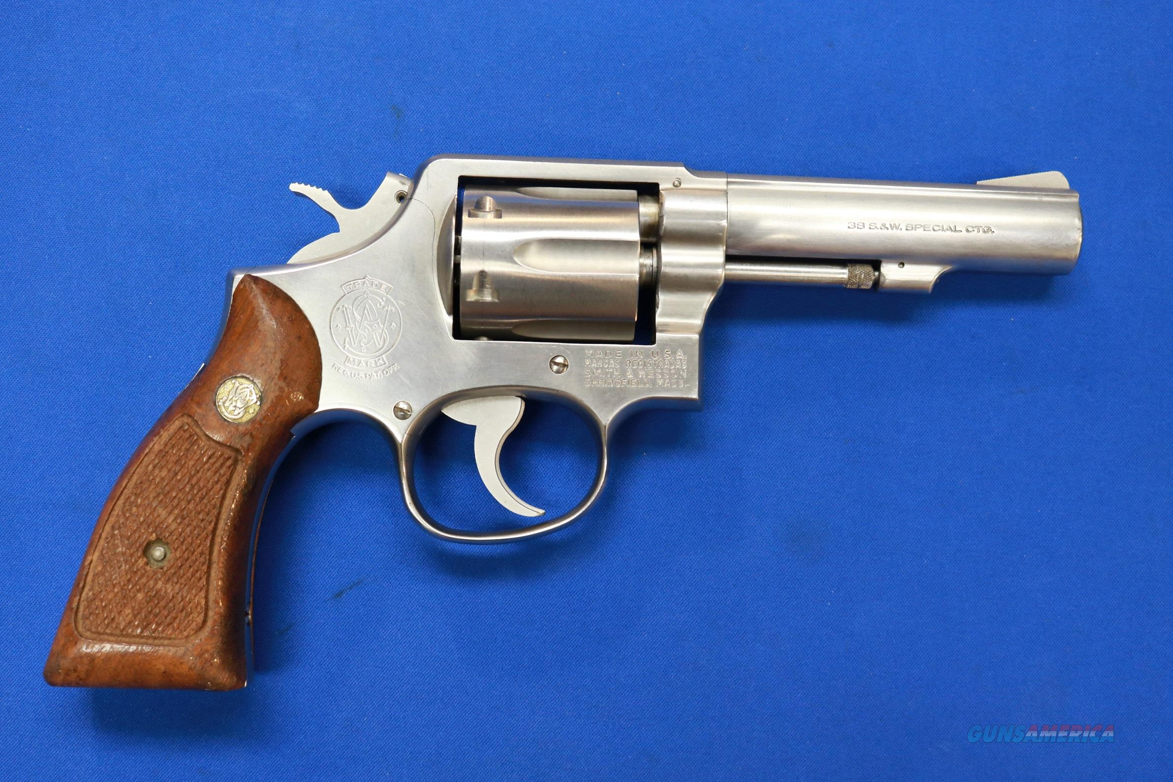 "SMITH & WESSON 64-3 STAINLESS .38 SPECIAL 4""  Guns > Pistols > Smith & Wesson Revolvers > Med. Frame ( K/L )"