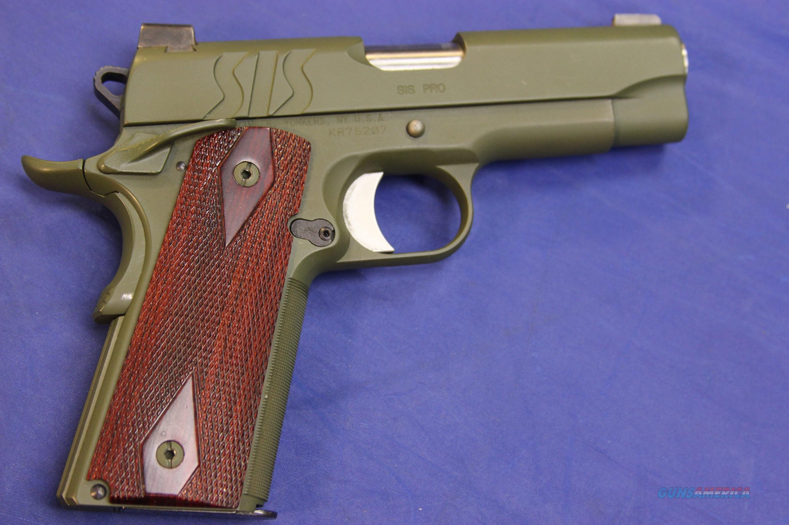 KIMBER 1911 SIS PRO OD GREEN .45 ACP - Custom Finish  Guns > Pistols > Kimber of America Pistols