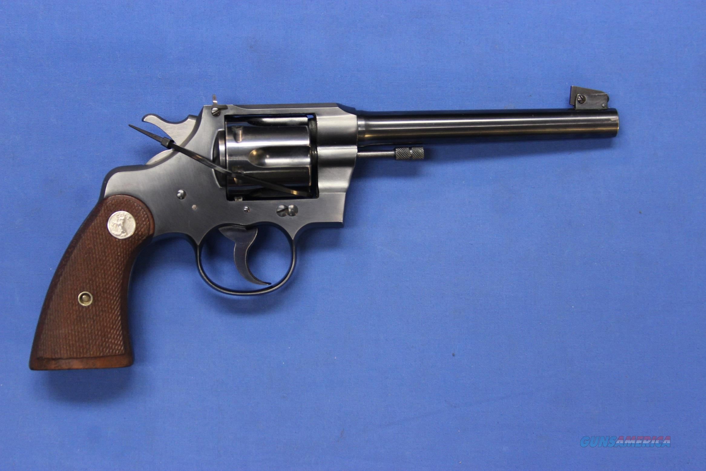 "COLT OFFICERS MODEL TARGET .22 LR 6"" - VERY NICE!  Guns > Pistols > Colt Double Action Revolvers- Pre-1945"
