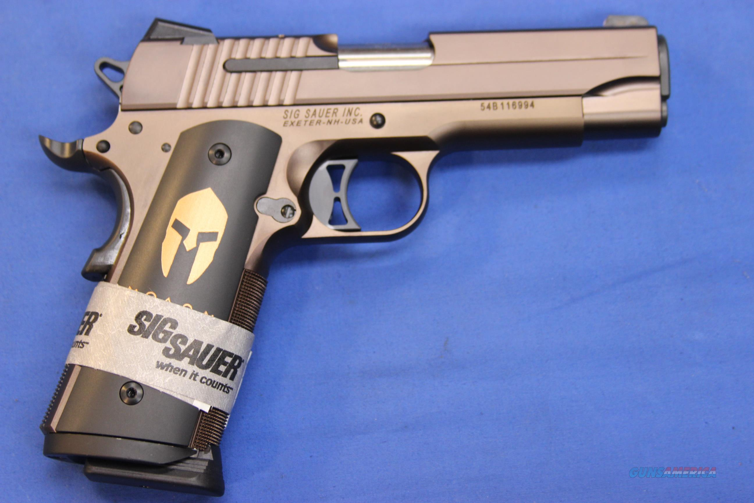 SIG SAUER 1911 CARRY SPARTAN .45 ACP - NEW!   Guns > Pistols > Sig - Sauer/Sigarms Pistols > 1911