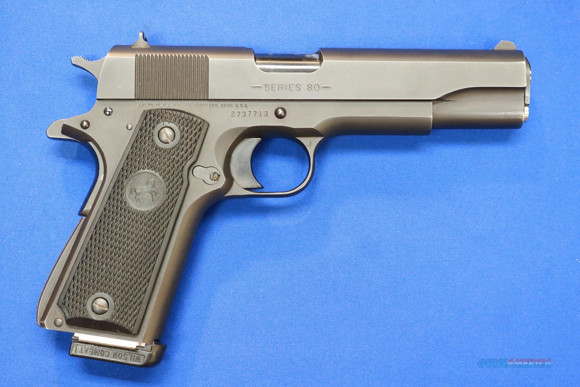 COLT M1991A1  SERIES 80 .45 ACP w/WILSON MAG  Guns > Pistols > Colt Automatic Pistols (1911 & Var)
