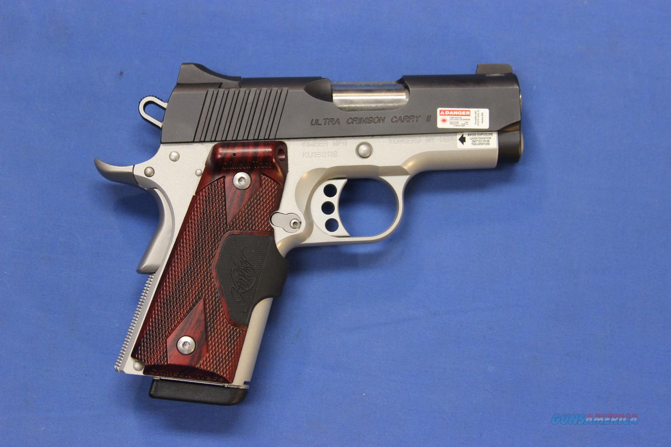 KIMBER ULTRA CRIMSON CARRY II .45 ACP w/BOX & MAGS  Guns > Pistols > Kimber of America Pistols > 1911