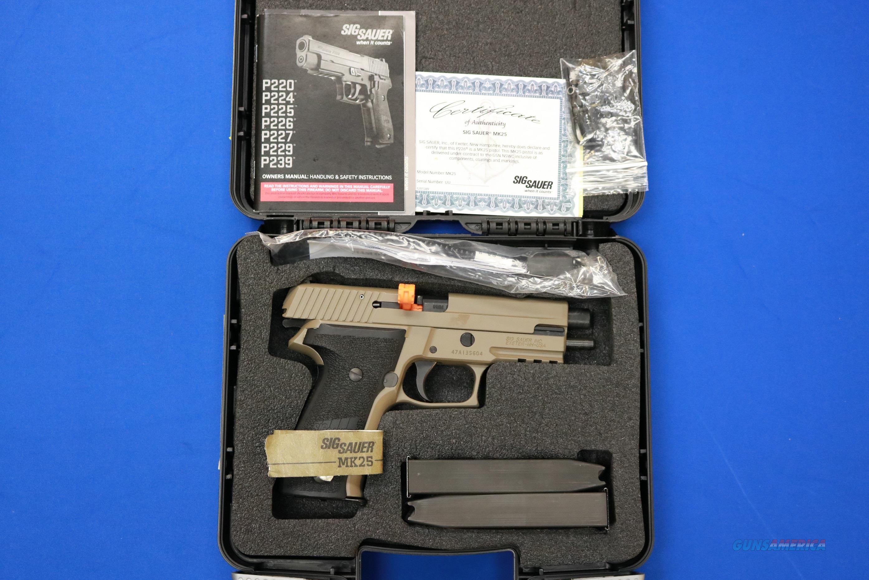 SIG SAUER P226 MK25 D 9mm FDE AS NEW MK-25-D  Guns > Pistols > Sig - Sauer/Sigarms Pistols > P226
