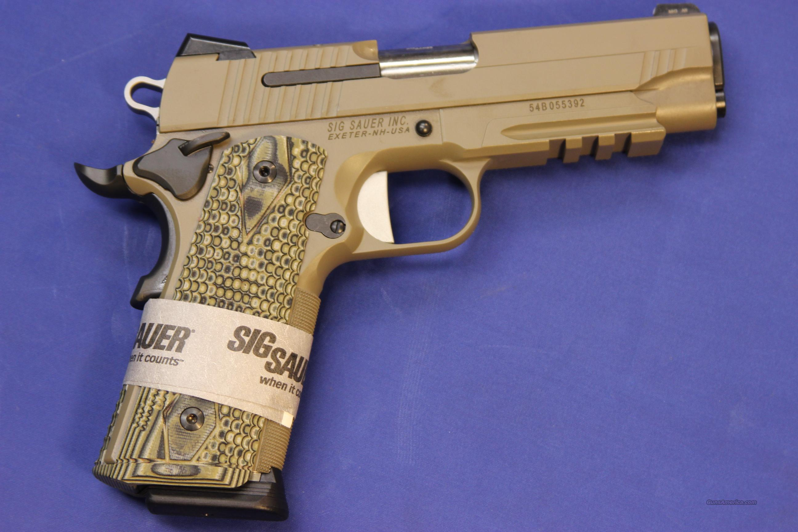 SIG SAUER 1911 CARRY SCORPION .45 ACP - NEW!  Guns > Pistols > Sig - Sauer/Sigarms Pistols > 1911