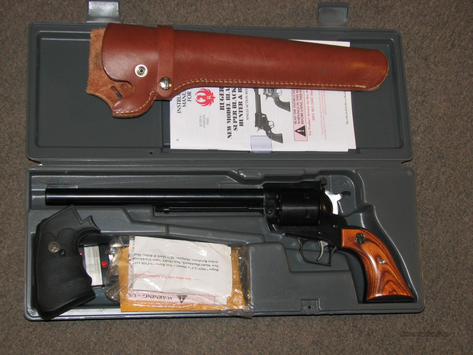 "RUGER SUPER BLACKHAWK .44 MAG 10.5"" - w/ BOX AND HOLSTER  Guns > Pistols > Ruger Single Action Revolvers > Blackhawk Type"