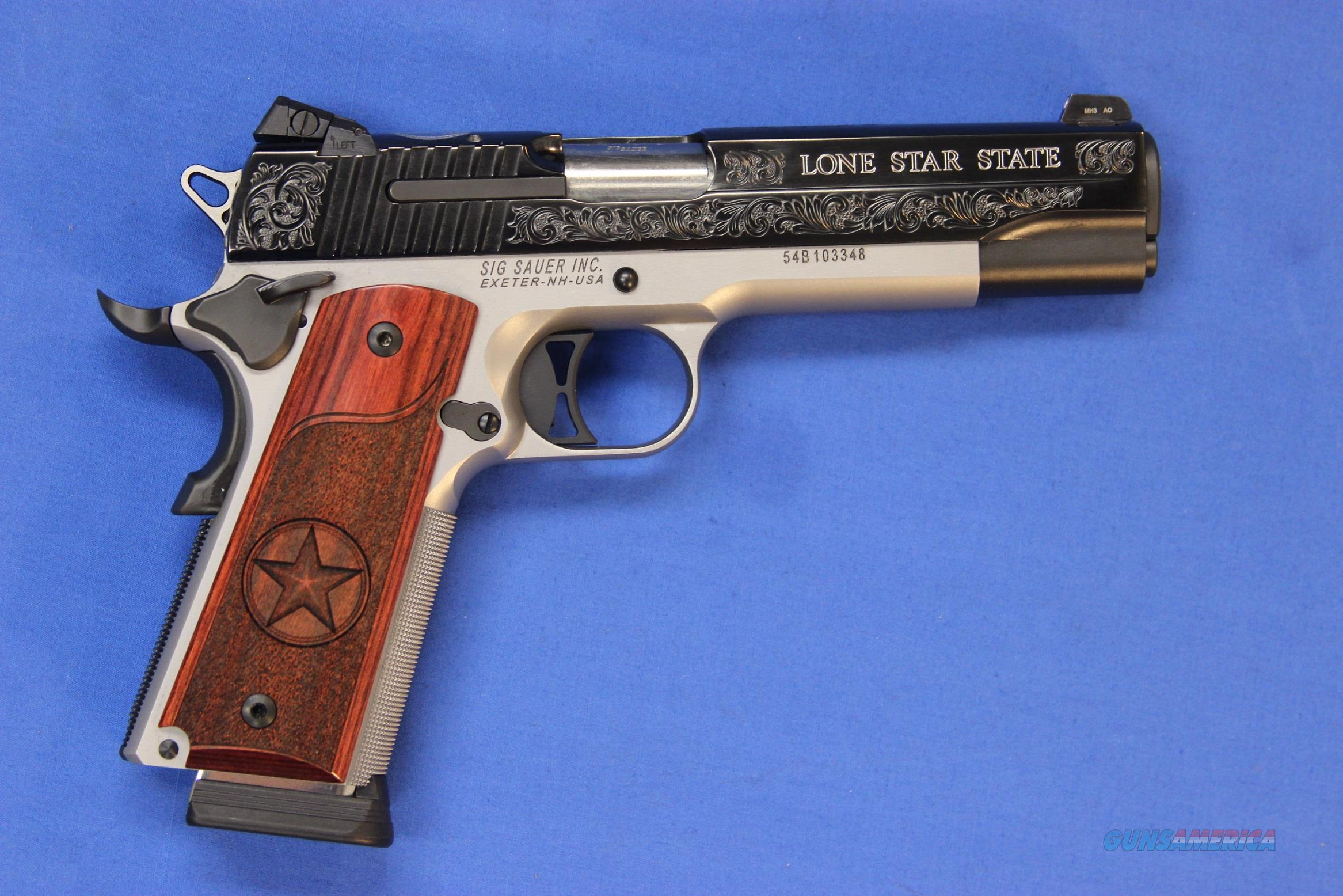 SIG SAUER 1911 TEXAS SILVER STAR .45 ACP - NEW!  Guns > Pistols > Sig - Sauer/Sigarms Pistols > 1911