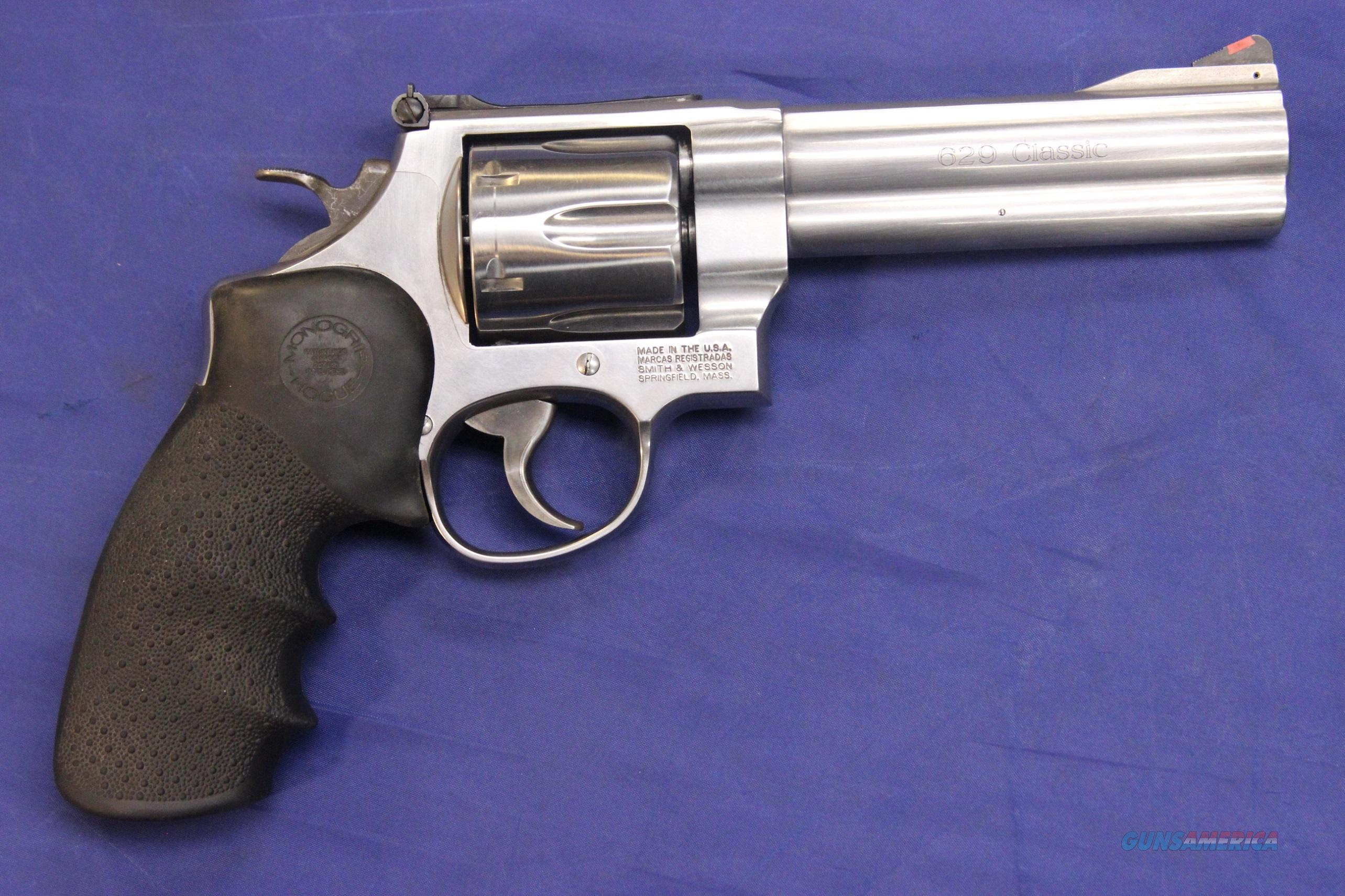 "SMITH & WESSON 629 CLASSIC .44 MAG 5"" STAINLESS  Guns > Pistols > Smith & Wesson Revolvers > Full Frame Revolver"