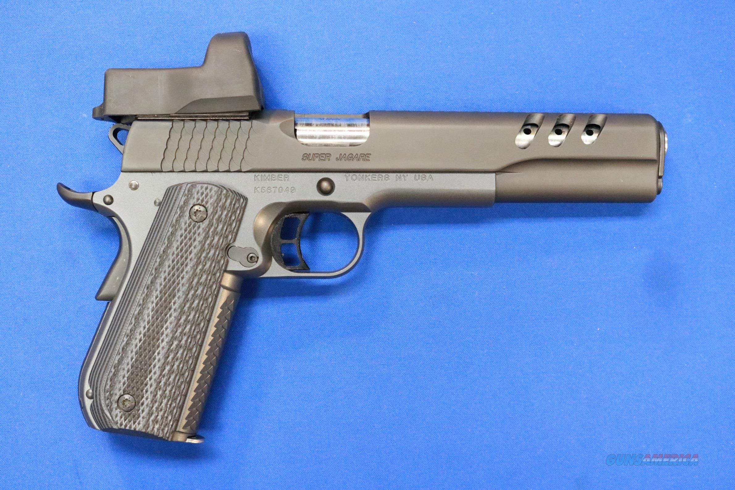 KIMBER 1911 SUPER JAGARE 10mm w/LEUPOLD DP-PRO  Guns > Pistols > Kimber of America Pistols > 1911