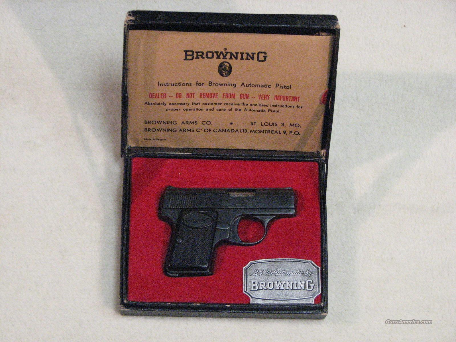 Baby Browning .25 ACP W/ Box and Papers  Guns > Pistols > Browning Pistols > Baby Browning