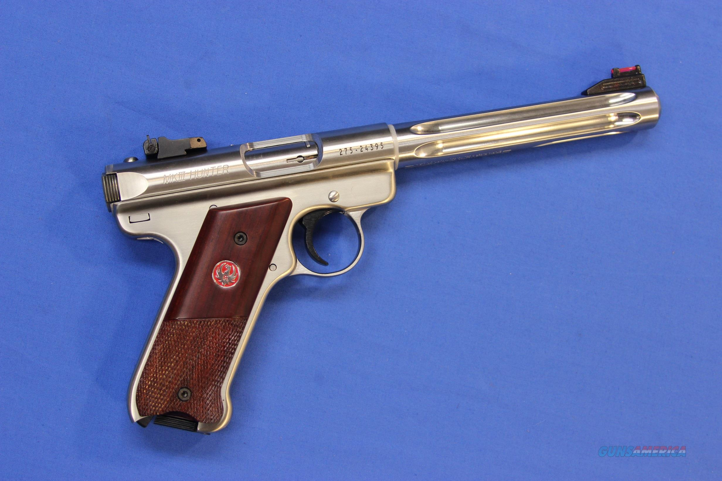 RUGER MARK III TARGET HUNTER .22 LR - NEW!  Guns > Pistols > Ruger Semi-Auto Pistols > Mark I/II/III Family