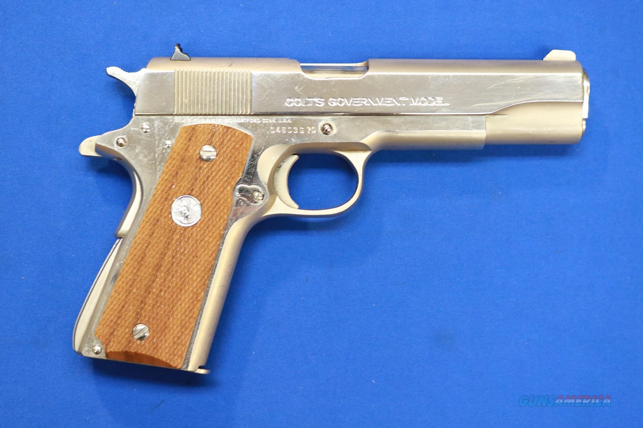 COLT Mk IV SERIES 70 GOVERNMENT .45 ACP NICKEL 1976  Guns > Pistols > Colt Automatic Pistols (1911 & Var)