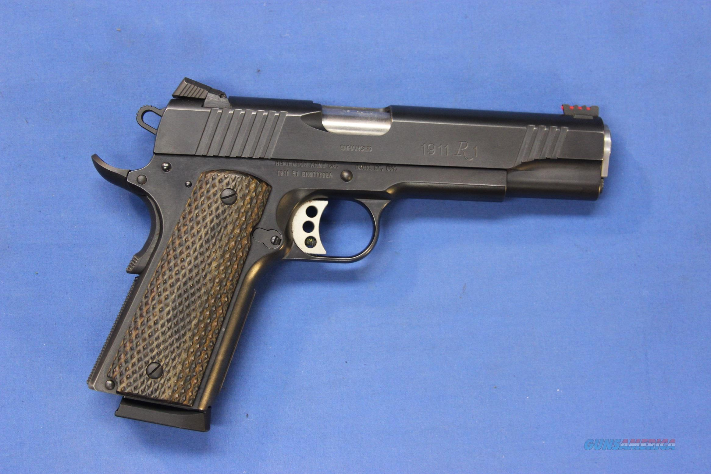 REMINGTON 1911 R1 .45 ACP w/FACTORY BOX & 4 MAGS  Guns > Pistols > Remington Pistols - Modern > 1911
