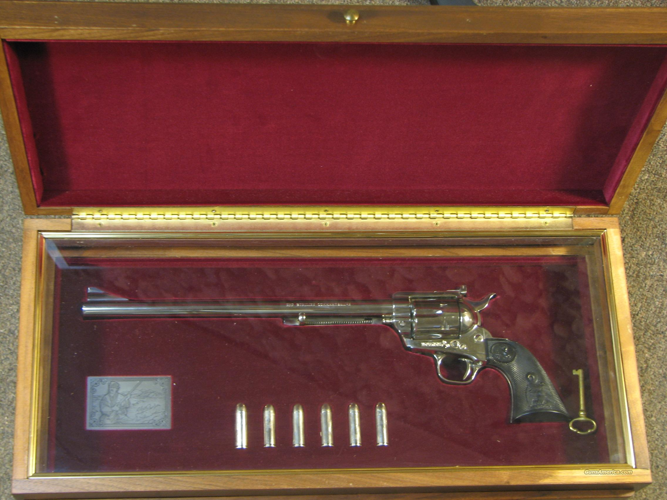 "COLT SINGLE ACTION ARMY NICKEL ""NED BUNTLINE"" COMMEMORATIVE .45 COLT  Guns > Pistols > Colt Single Action Revolvers - 2nd Gen."