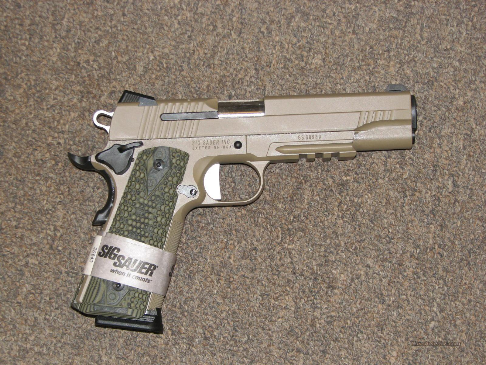 SIG SAUER 1911 CARRY SCORPION .45 ACP - NEW!!  Guns > Pistols > Sig - Sauer/Sigarms Pistols > 1911