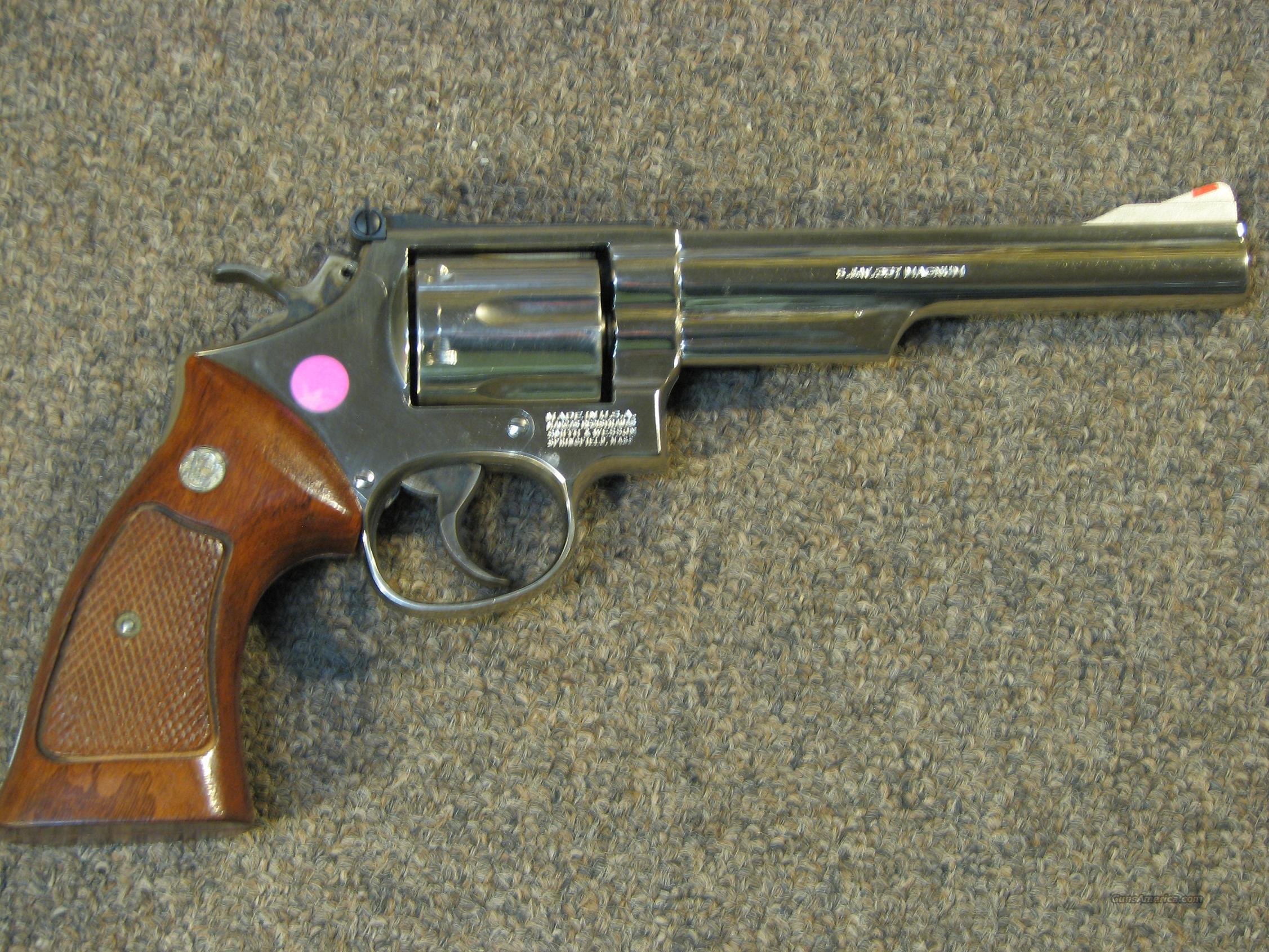 SMITH & WESSON 19-5 NICKEL PLATED - LIKE NEW!  Guns > Pistols > Smith & Wesson Revolvers > Full Frame Revolver
