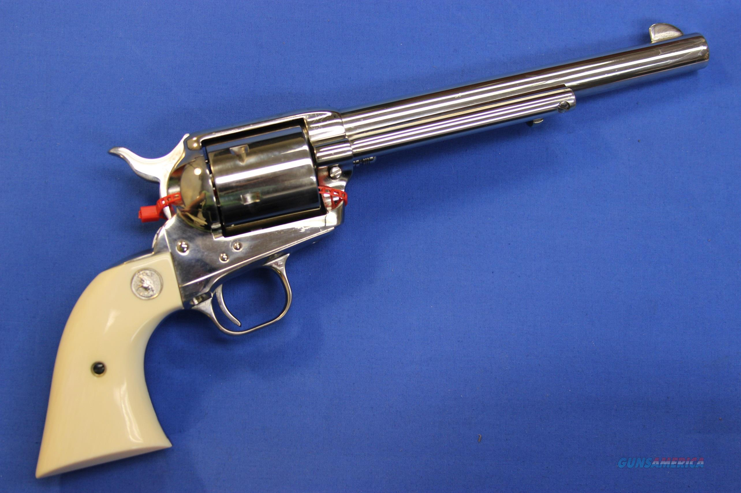 "COLT SAA .44-40 NICKEL 7.5"" IVORY - NIB!  Guns > Pistols > Colt Single Action Revolvers - 3rd Gen."