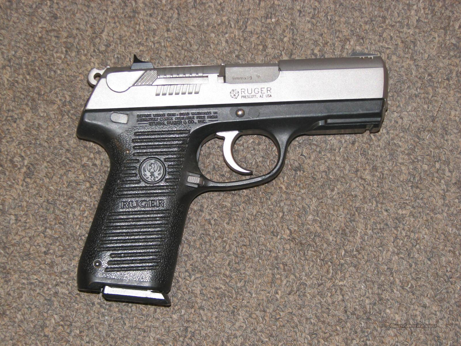 RUGER P95 STAINLESS 9mm - LIKE NIB!  Guns > Pistols > Ruger Semi-Auto Pistols > P-Series