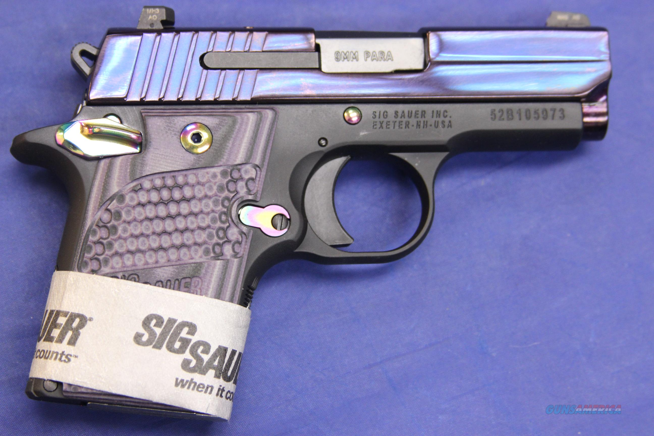 SIG SAUER P938 9mm PURPLE/G10 - NEW!  Guns > Pistols > Sig - Sauer/Sigarms Pistols > Other
