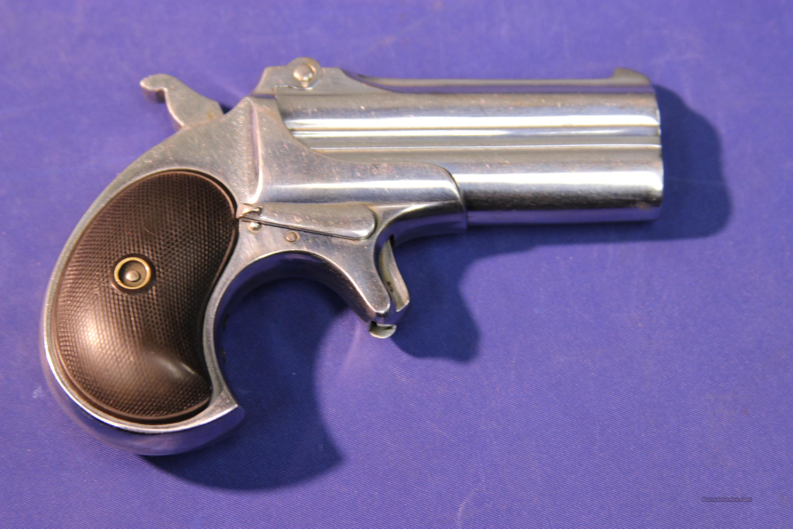 REMINGTON DERRINGER .41 Rimfire Nickel Finish  Guns > Pistols > Remington Derringers