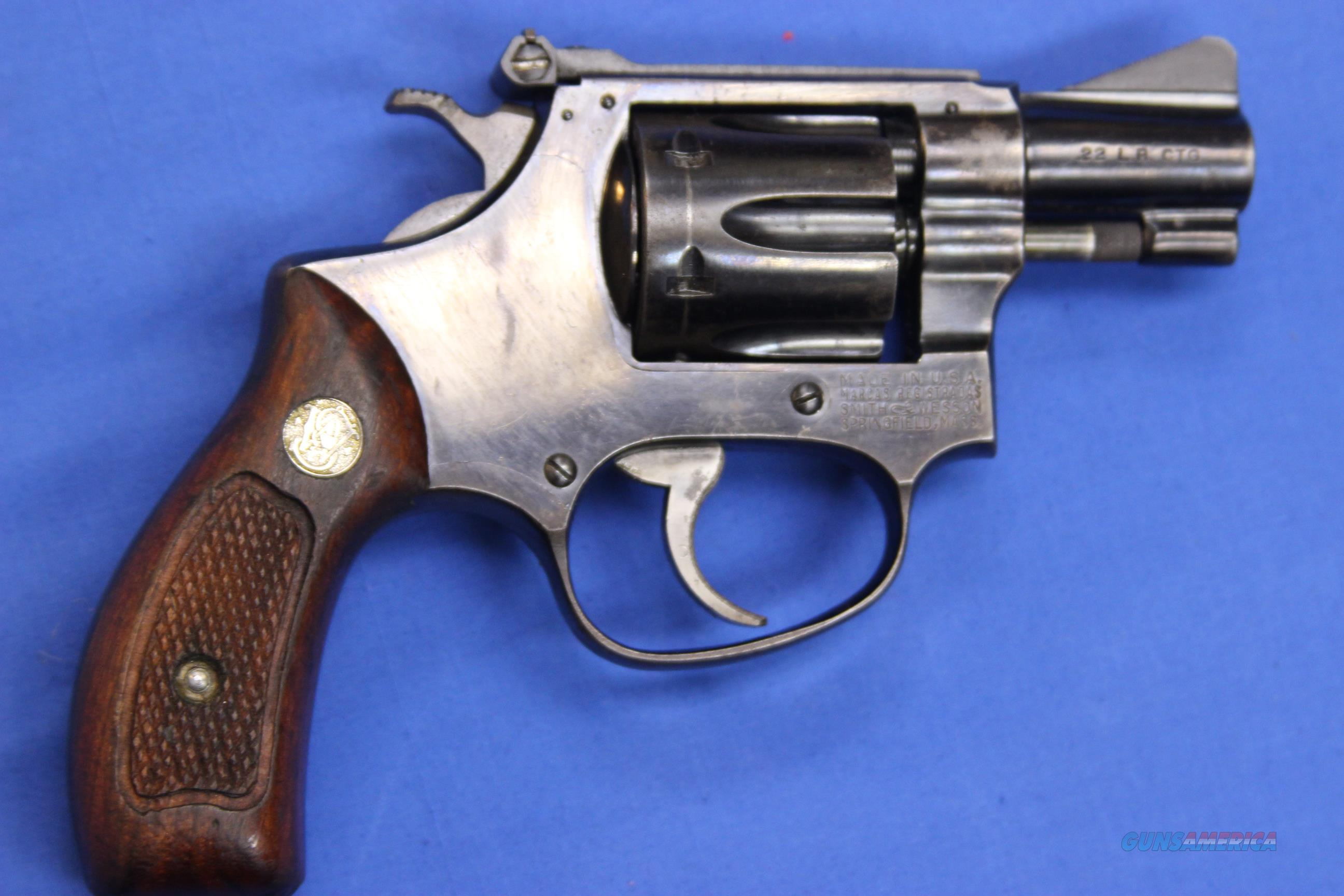 SMITH & WESSON MODEL 34 .22 LONG RIFLE   Guns > Pistols > Smith & Wesson Revolvers > Pre-1945