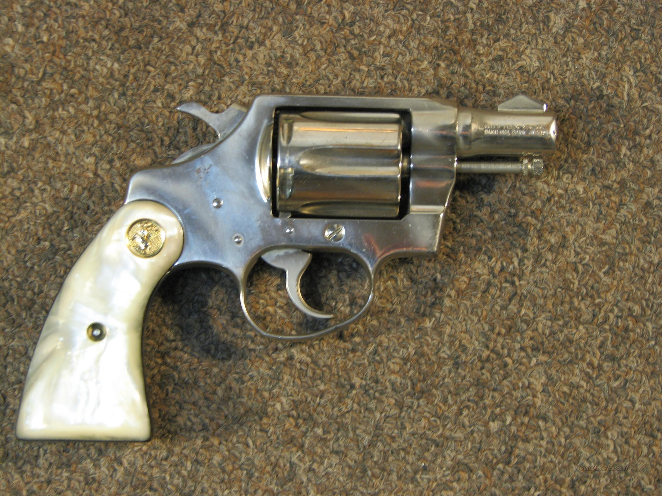 COLT DETECTIVE SPECIAL .38 SP - NICKEL  Guns > Pistols > Colt Double Action Revolvers- Modern