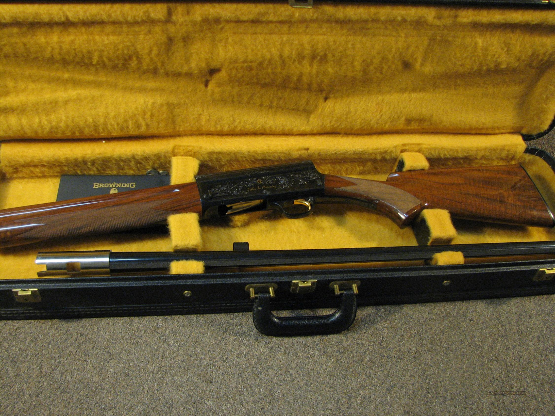 BROWNING A-5 BELGIAN LIGHT TWELVE 2 MILLIONTH EDITION IN CASE  Guns > Shotguns > Browning Shotguns > Autoloaders > Hunting