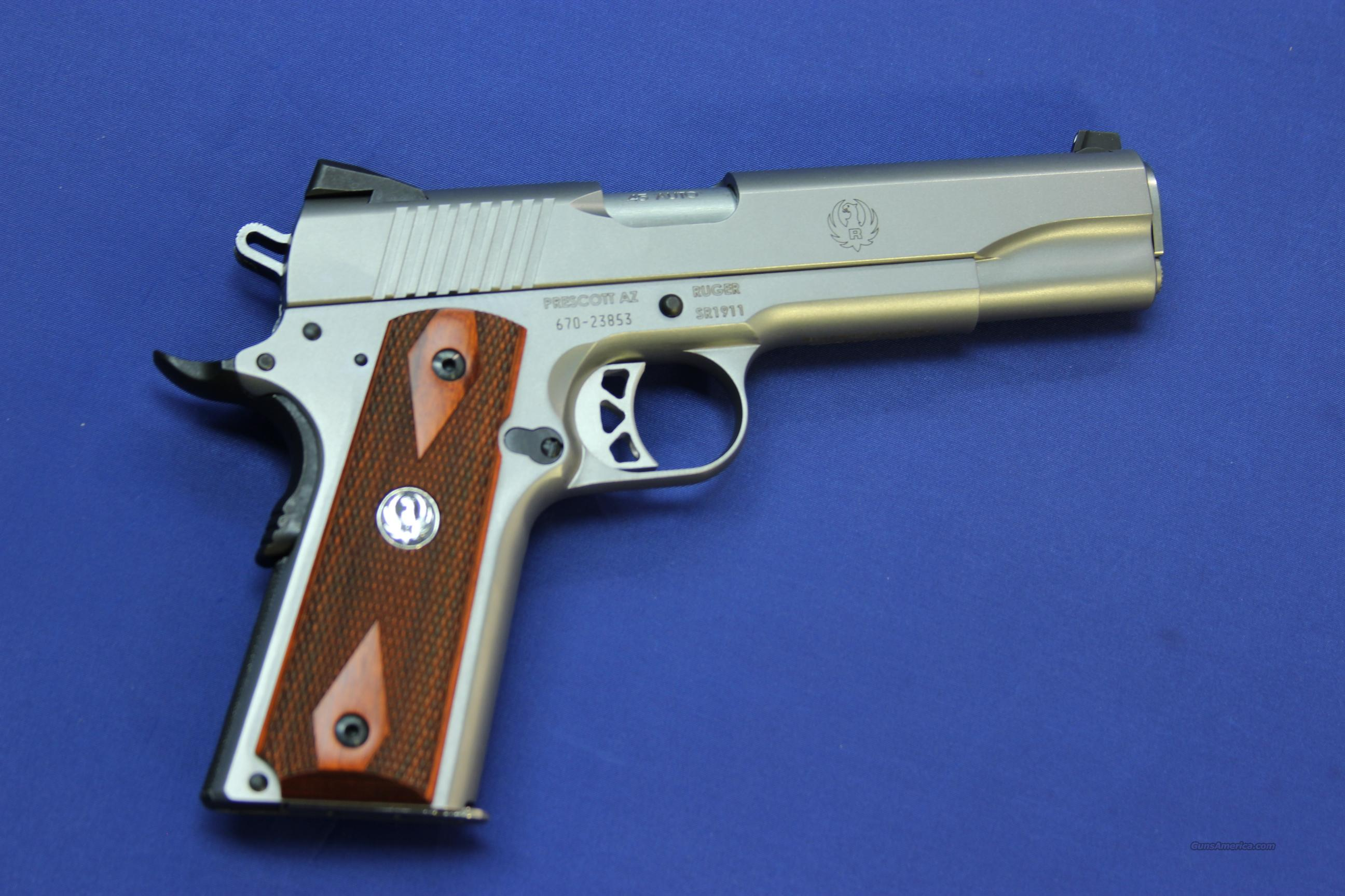 RUGER SR1911 STAINLESS .45 ACP - NEW!  Guns > Pistols > Ruger Semi-Auto Pistols > SR9 & SR40