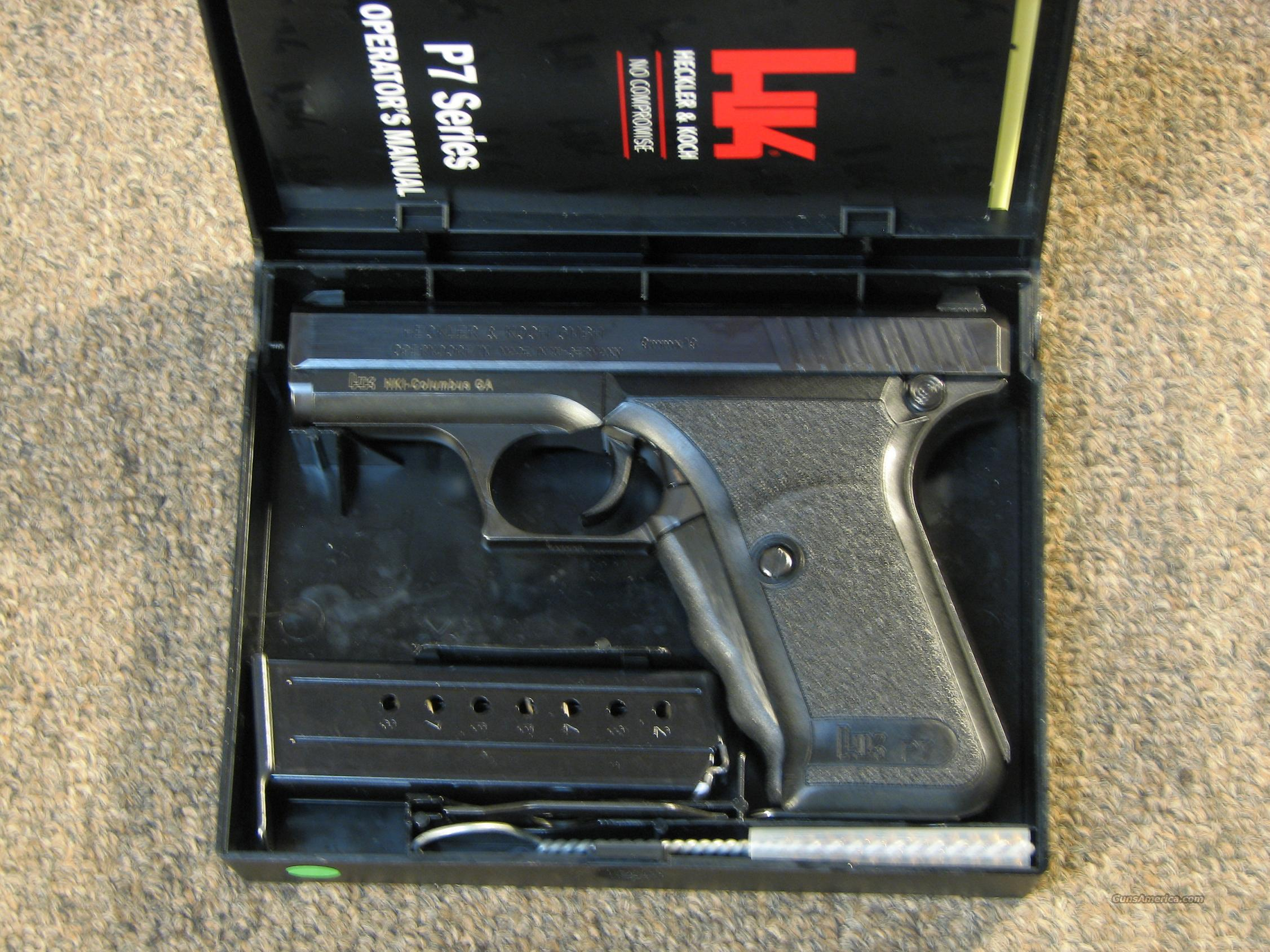 HECKLER & KOCH P7 WEST GERMAN POLICE 'A' GRADE 9mm - LIKE NEW  Guns > Pistols > Heckler & Koch Pistols > SteelFrame