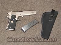 COLT MK IV SERIES 70 GOVERNEMNT SATIN NICKEL .45 ACP  Guns > Pistols > Colt Automatic Pistols (1911 & Var)