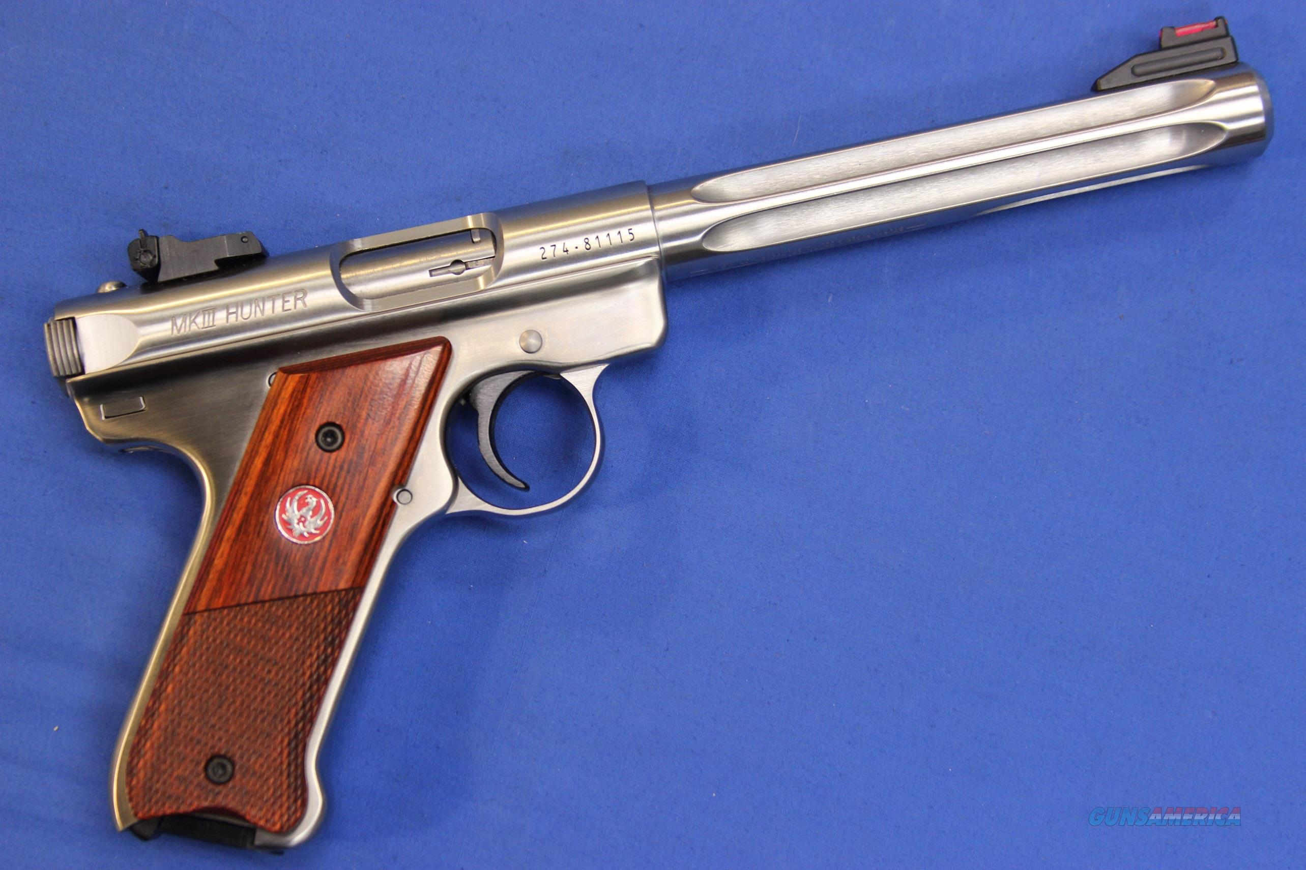 "RUGER MK III HUNTER .22 LR 6.78"" STAINLESS - LIKE NEW w/ BOX   Guns > Pistols > Ruger Semi-Auto Pistols > Mark I/II/III Family"