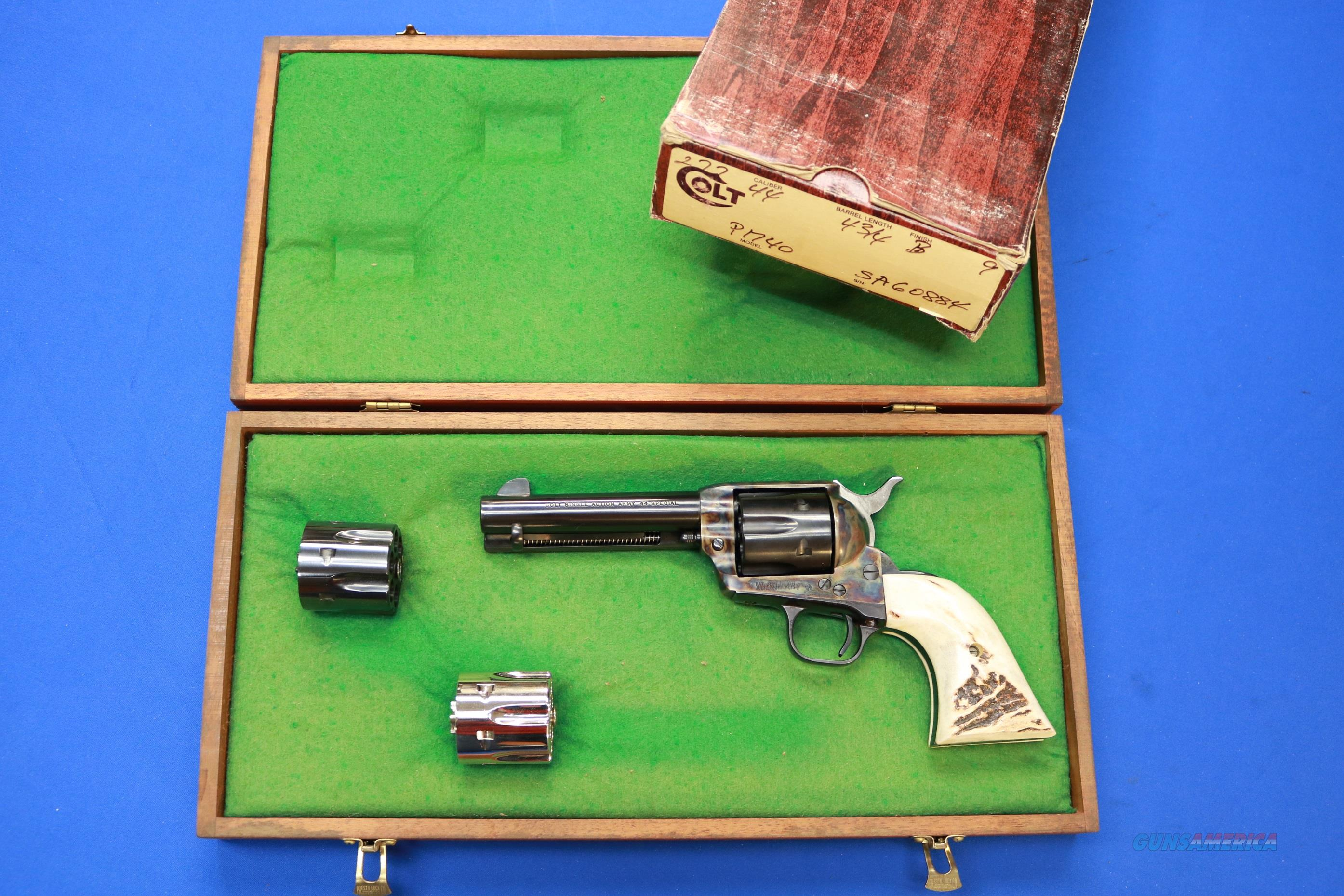 COLT SINGLE ACTION ARMY .44 SPECIAL w/.44-40 CYLINDER  Guns > Pistols > Colt Single Action Revolvers - 3rd Gen.