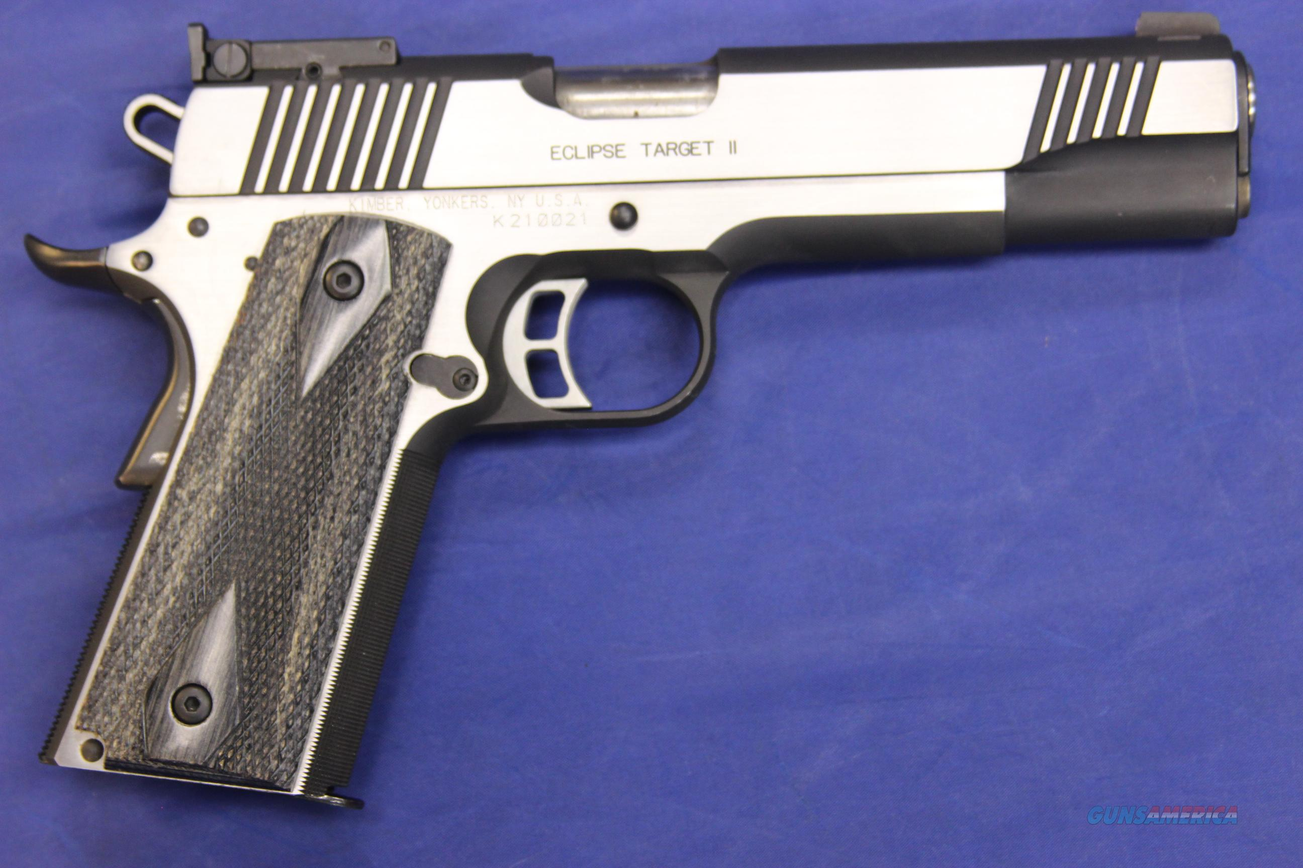 "KIMBER 1911 ECLIPSE TARGET II 5"" w/ BOX - EXCELLENT CONDITION!  Guns > Pistols > Kimber of America Pistols"