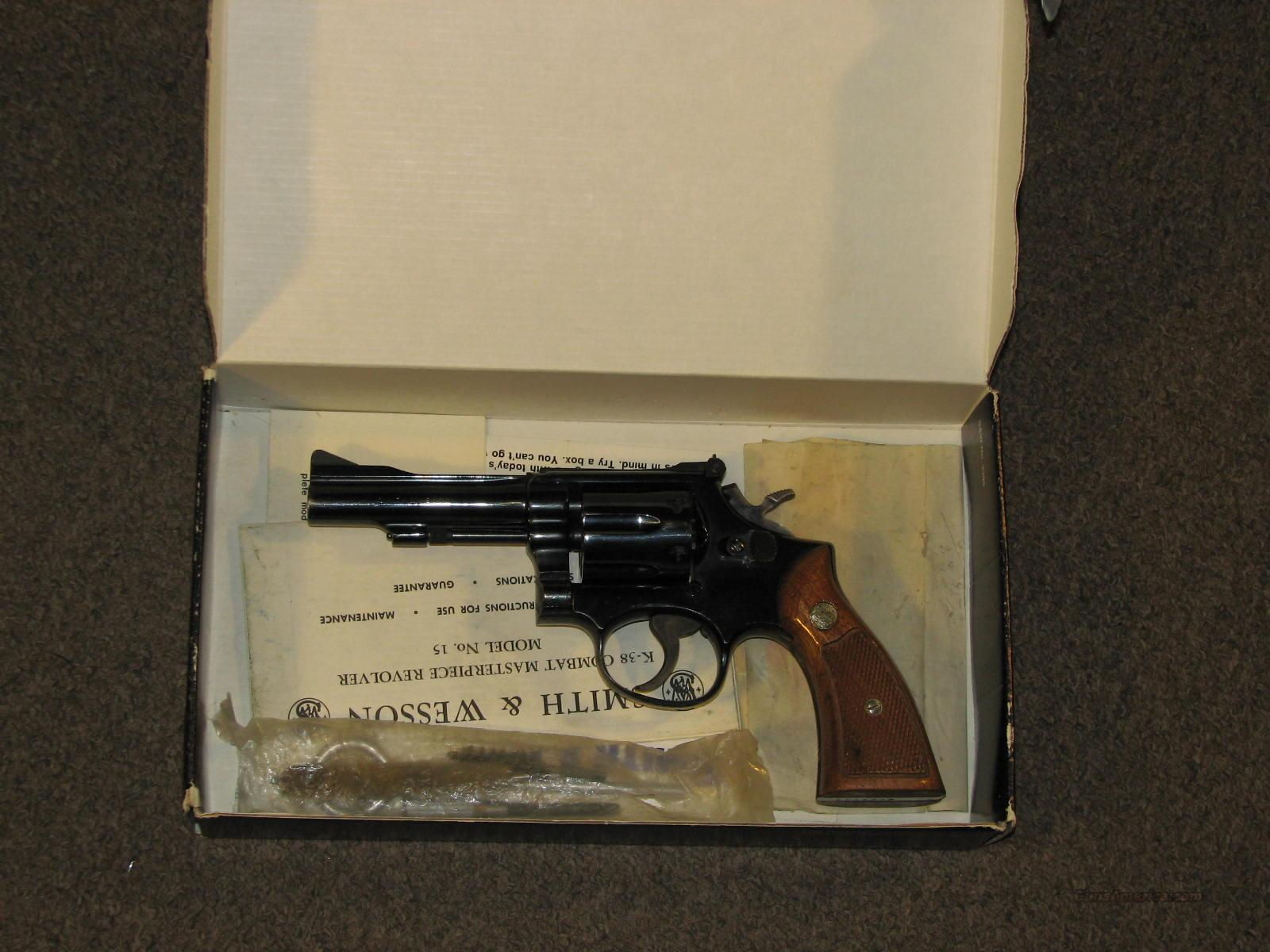 SMITH & WESSON 15-3 .38 SPECIAL w/ BOX  Guns > Pistols > Smith & Wesson Revolvers > Full Frame Revolver