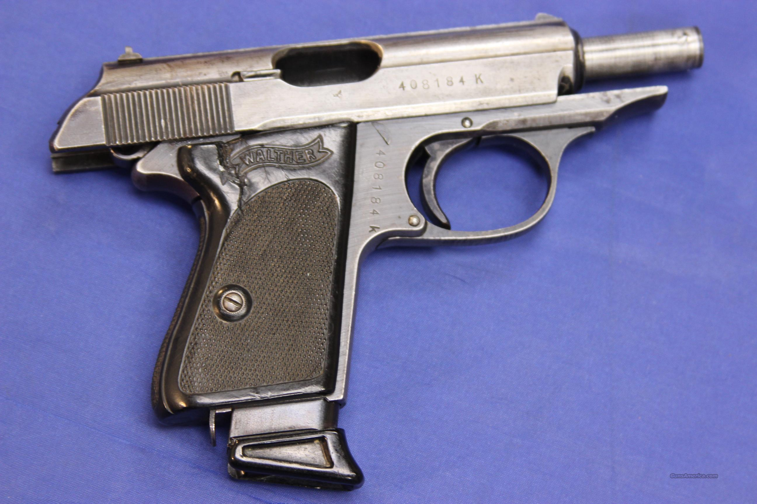 WALTHER STAINLESS PPK 7.65MM  Guns > Pistols > Walther Pistols > Post WWII > PPK Series