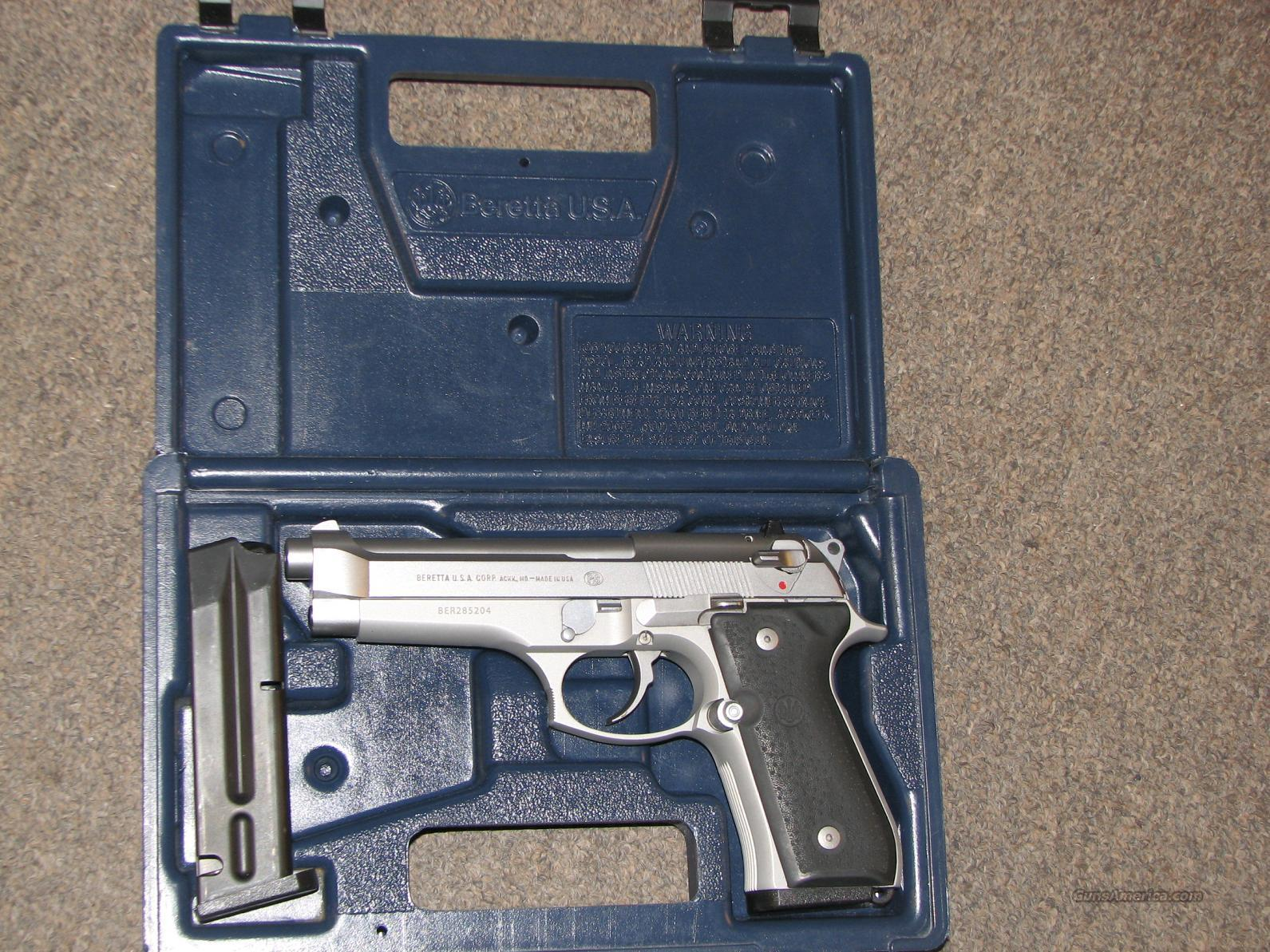 BERETTA 92 FS STAINLESS 9mm  Guns > Pistols > Beretta Pistols > Model 92 Series